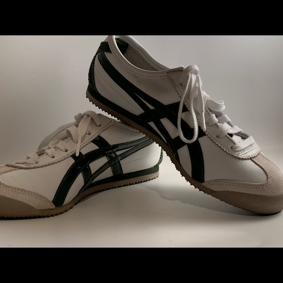 new product e1bb2 ed86e Onitsuka Mexico 66 White/Kombu Green